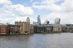 A view of Thames river. Royalty Free Stock Photography