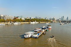 View of River Thames London. Royalty Free Stock Photo