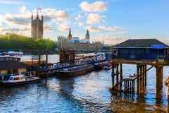 View of the river Thames in London, UK Stock Images