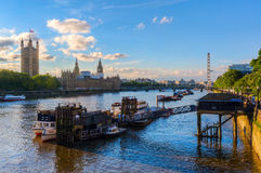 View of the river Thames in London, UK Royalty Free Stock Image