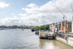 View of River Thames, London Stock Images