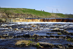 View of the river Tosna Royalty Free Stock Photography