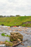 View of the river Tosna. Royalty Free Stock Image