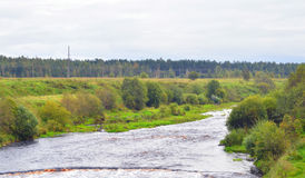 View of the river Tosna. Stock Image