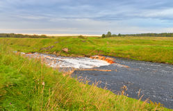 View of the river Tosna. Royalty Free Stock Photo