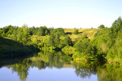 View of the river Tosna. Stock Photography
