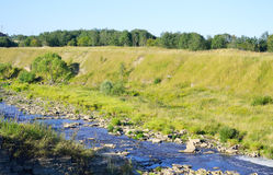 View of the river Tosna. Royalty Free Stock Photography