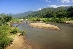 View of the river in the town of Pai Royalty Free Stock Photos
