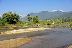 View of the river in the town of Pai Royalty Free Stock Images