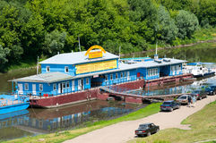 View on the river Trubezh and pier in Ryazan Royalty Free Stock Photography