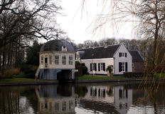 View on the river Vecht Royalty Free Stock Images