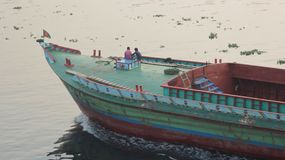 A view of river vehicles in Bangladesh stock photo