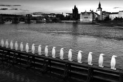 View on river Vltava Royalty Free Stock Photography