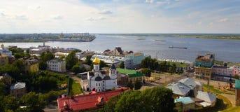 View of the river Volga. royalty free stock photos