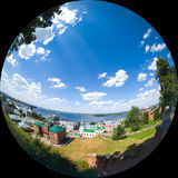 View of the river Volga. Stock Photos