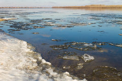 View of the river Volga in the spring. Astrakhan royalty free stock images