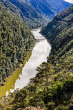 View of the river in Whanganui National Park, New Zealand Stock Photo