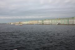 view of the river and the winter Palace in  Petersburg royalty free stock photo