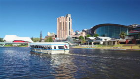 View of Riverbank Precinct in Adelaide, Australia stock video footage