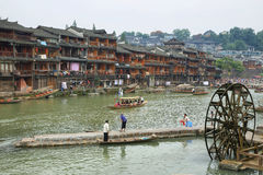 View of riverside houses in Fenghuang Royalty Free Stock Photography