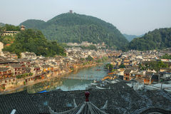 View of riverside houses in Fenghuang Stock Photography