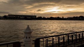 The view riverside. Scene of the chaophaya river in Bangkok Stock Photography