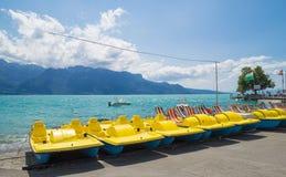 View of  riviera 's Lake Geneva  at Vevey Royalty Free Stock Image