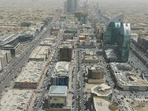 View of Riyadh from Kingdom Centre Tower Stock Photos