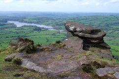 View from the Roaches in England Stock Images