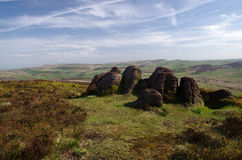 View from the Roaches in England Royalty Free Stock Photography