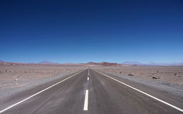 View of the road, Atacama Desert, Chile Royalty Free Stock Images