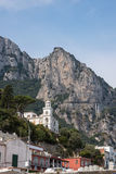 View of road on cliff to Anacapri. Capri Island, Italy Royalty Free Stock Images