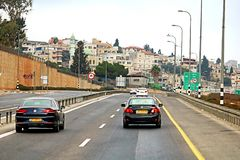 View of road in Israel Stock Photo