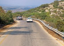 View of road in Israel. The estimation is that in this country, due to travelling to work/school, per passenger is produced yearly 1,315.42kg of CO2. It is Royalty Free Stock Images