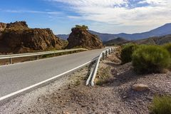 View of the road from La Alpujarra royalty free stock image
