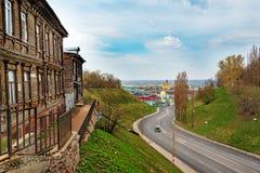 View of road in Nizhny Novgorod Royalty Free Stock Photography