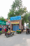 View of road outside a Government girls school Lahore, Pakistan Royalty Free Stock Photos
