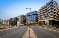 View of road at Piraeus port,Greece Royalty Free Stock Photos