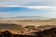 View of a road through the state of Utah stock images