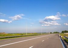 View at road in sunny day Royalty Free Stock Photography