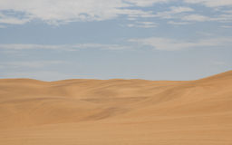 View from the road to the African dunes in the desert near the o Royalty Free Stock Photos