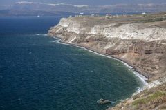 View from road to Akrotiri, Santorini Royalty Free Stock Image