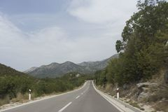 View of road to biokovo mountain Stock Image