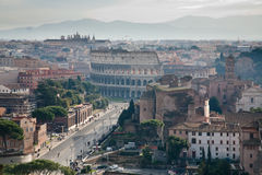 View on road to Coliseum Royalty Free Stock Photo