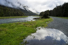 View from the road to Milford Sound royalty free stock photos
