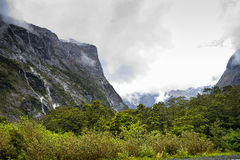 View from the road to Milford Sound stock photography