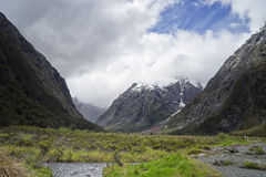 View from the road to Milford Sound Royalty Free Stock Photo