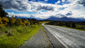 View from the road to Milford Sound stock image