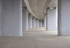 View on the road under concrete road bridge Stock Photos