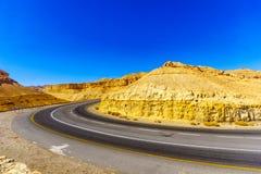 Winding desert road Stock Photo